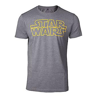 Star Wars Outlines Logo T-Shirt Grey Small (TS728688STW-S)