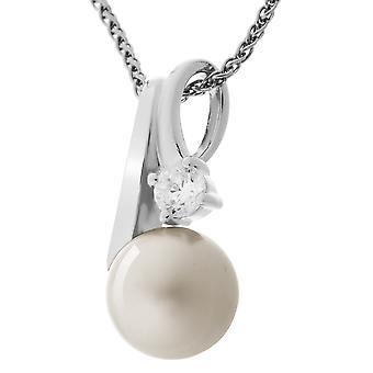 Orphelia sølv 925 kæde med vedhæng Platinum perle Zirconium ZH-7119/PL