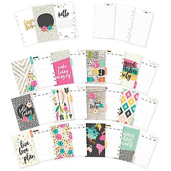 Carpe Diem Good Vibes Double-Sided Personal Planner Inserts-Good Vibes, Undated Monthly