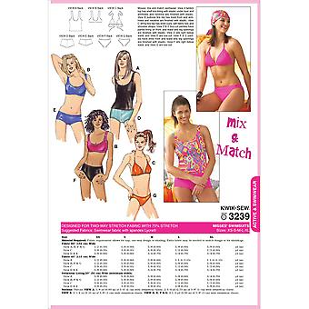 Swimsuits-XS-S-M-L-XL -*SEWING PATTERN*