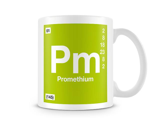 Element Symbol 061 Pm - Promethium Printed Mug