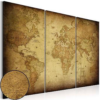 Canvas Print - Old map: triptych