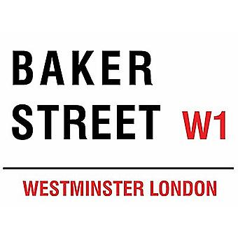 Baker Street, London liten metall logga 200 X 150 Mm