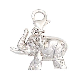 Single earrings elephant 925 sterling silver rhodium plated charm silver