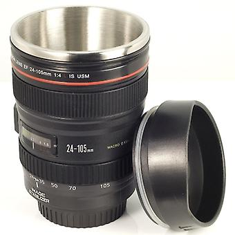 Camera Lens Cup Coffee Mug For Camera Fans EOS 24-105mm Model Stainless + Gift Pouch DC139