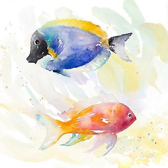 Tropical Fish Square I Poster Print by Lanie Loreth