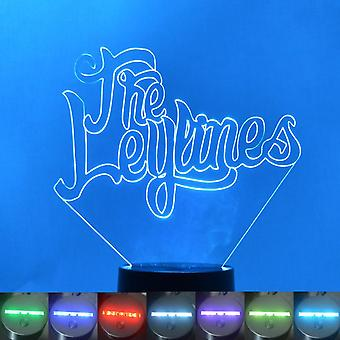 The Leylines Name Colour Changing LED Acrylic Light