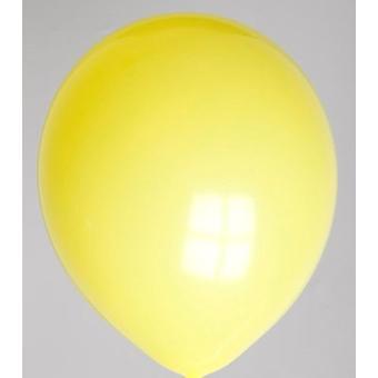 Zak met 100 ballons no. 12 geel