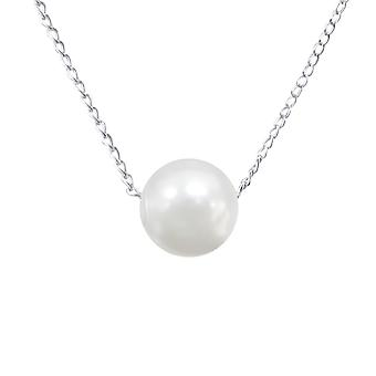 Round - 925 Sterling Silver Plain Necklaces - W23845x