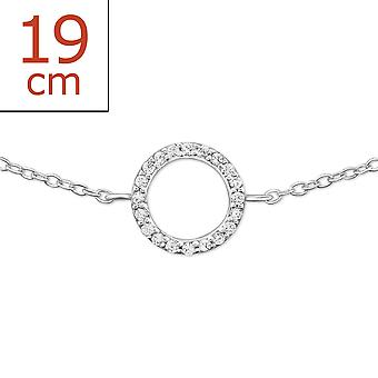 Round - 925 Sterling Silver Chain Bracelets - W23011X