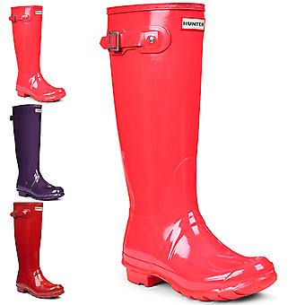 Womens Hunter Original Tall Gloss pluie bottes Wellingtons Festival d'hiver