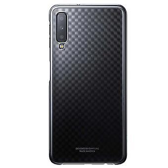 Samsung Gradation Cover Schwarz EF-AA750CBEGWW für Galaxy A7 A750F 2018 Tasche Hülle Case