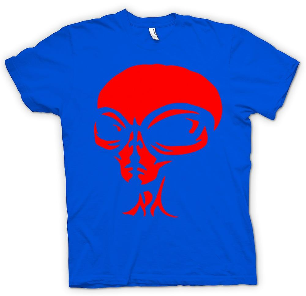 Mens T-shirt - UFO - Alien  Head