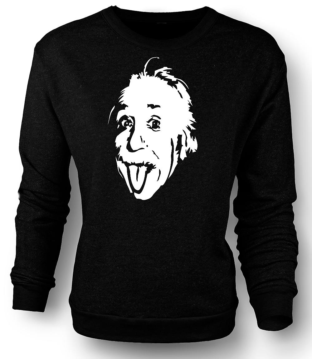Mens Sweatshirt Albert Einstein Tongue Out - Funny