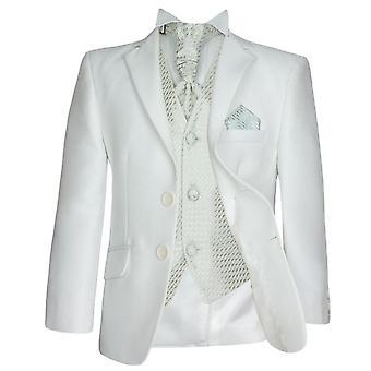 5 Piece Boys Cream & Ivory Suit Page Boy, Wedding, Communion