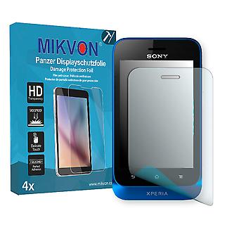 Sony Xperia Tipo Screen Protector - Mikvon Armor Screen Protector (Retail Package with accessories)