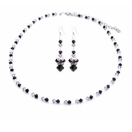Swarovski Tri-Color Crystals Jet Black Diamond Clear Swarovski Jewelry