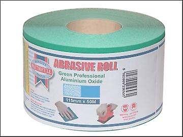 Faithfull Aluminium Oxide Paper Roll Green 115 mm x 50m 60g