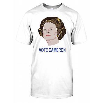 Margaret Thatcher Head - Vote Cameron Kids T Shirt