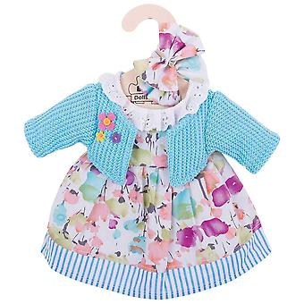 Bigjigs Toys Turquoise Rag Doll Cardigan & Dress (34cm) Clothing Outfit Dress Up
