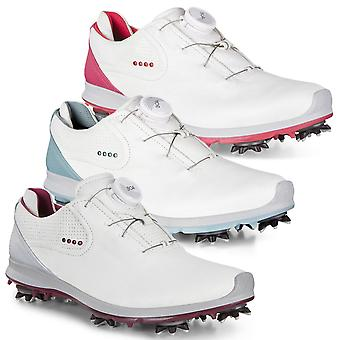 Ecco Womens 2019 Biom G 2 BOA Lace-System Spiked Hydromax Leather Golf Shoes