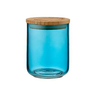 Ladelle Stak Glass Ocean Teal Canister, 13cm
