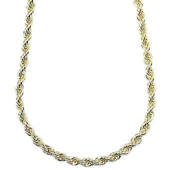 Gold Plated Rope Chain, Dookie Chain FILLED 6mm X 24 Inches
