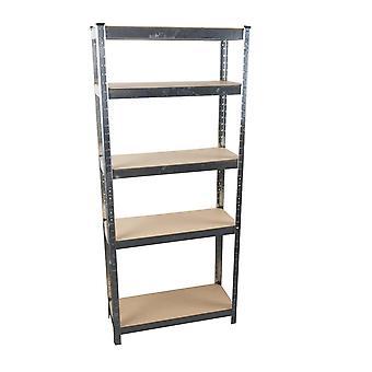 Shelf 5 Shelves Metal and Wood 170x75cm Heavy Loads Galvanized shelving