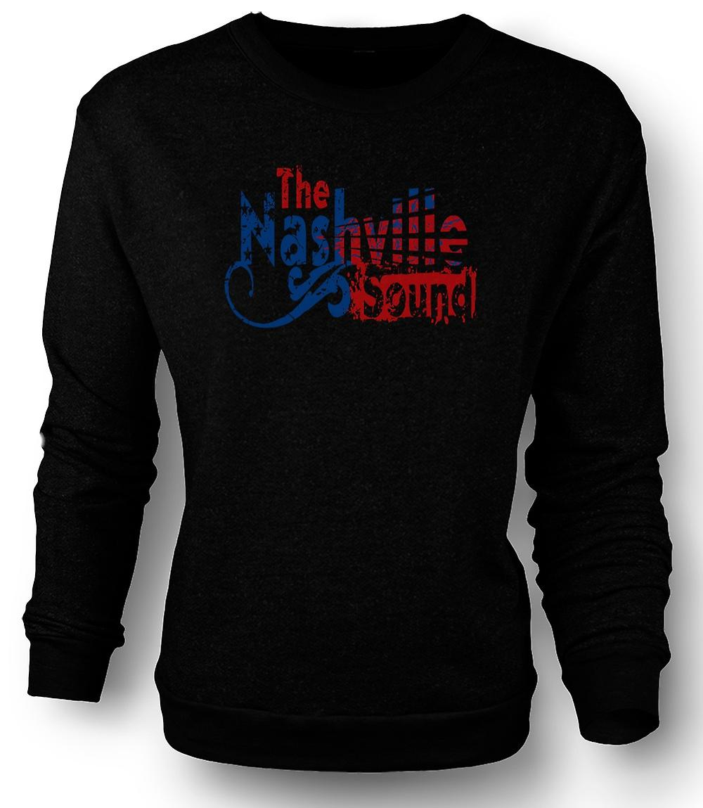 Mens Sweatshirt Nashville Sound - musique Country Blues
