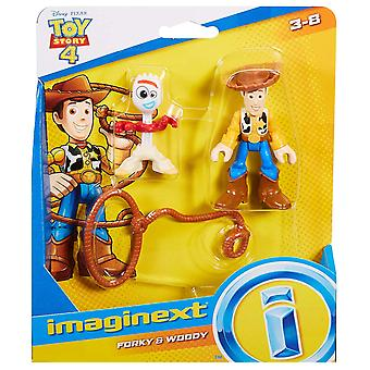 Imaginext Disney Toy Story GBG90 Toy, Woody and Forky
