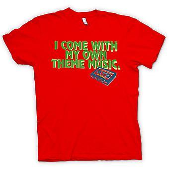 男装 t 恤-我跟我自己的主题音乐