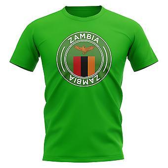 Zambia fotboll Badge T-shirt (grön)