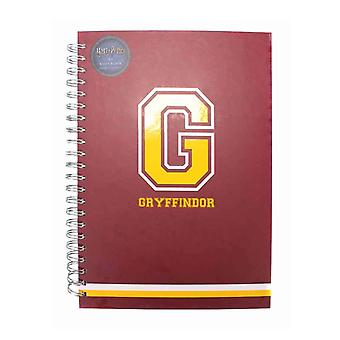 Harry Potter Notebook G For Gryffindor Varsity Logo new Official Red A4 Wiro
