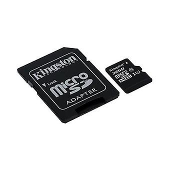 KINGSTON 32GB microSDHC Class 10 UHS-I upto 45MB/s with SD adaptor