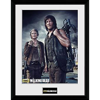 The Walking Dead Carol and Daryl Framed Collector Print 40x30cm