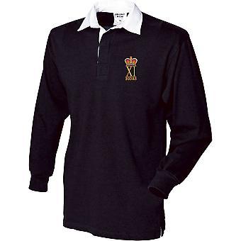 11 EOD eksplosive ammunition bortskaffelse og Søg regiment RLC-licenseret British Army broderet langærmet rugby shirt