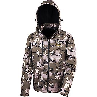 Royal Warwickshire Regiment Veteran - Licenza British Army Ricamato Performance Hooded Camo Softshell Giacca