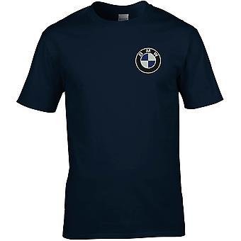BMW Beemer Motor Car Motoring - Embroidered Logo - Cotton Premium T-Shirt