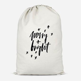 Merry And Bright Cotton Storage Bag