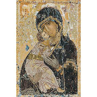 Our Lady Of Vladmir On Aida Counted Cross Stitch Kit 8 3 4