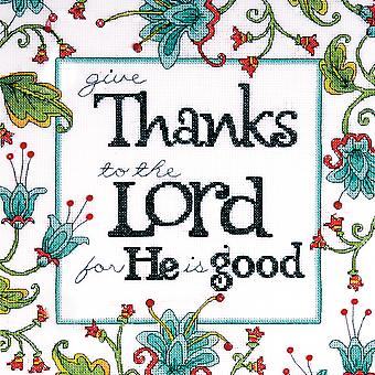 Heartfelt Give Thanks Counted Cross Stitch Kit 10