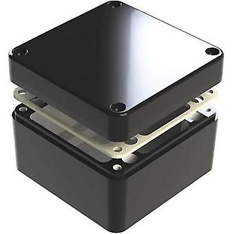 Universal enclosure 125 x 125 x 80 Aluminium Black Deltron Enclosures 487-121208B 1 pc(s)