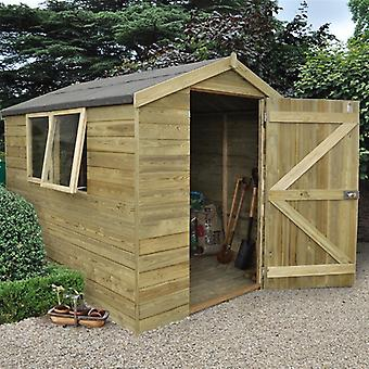 Forest Garden 6 x 8 Tongue & Groove Pressure Treated Apex Garden Shed