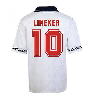 Score Draw England World Cup 1990 Home Shirt (Lineker 10)