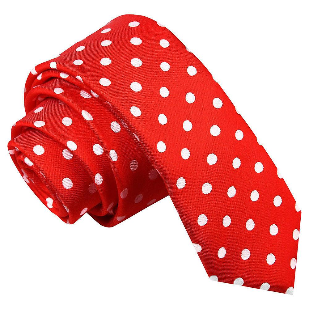 Red Polka Dot Skinny Tie