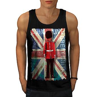 English Guard Flag Men Black Tank Top | Wellcoda