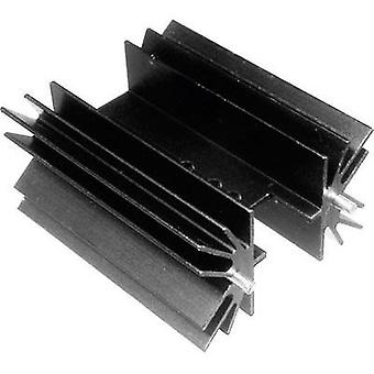 Fin heat sink 6.5 C/W (L x W x H) 25.4 x 41.6 x 25 mm TO 220, TOP 3, SOT 32 ASSMANN WSW V8511W