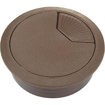 Cable grommet for worktops Acrylonitrile butadiene styrene Brown Conrad Components WP60BN 1 pc(s)