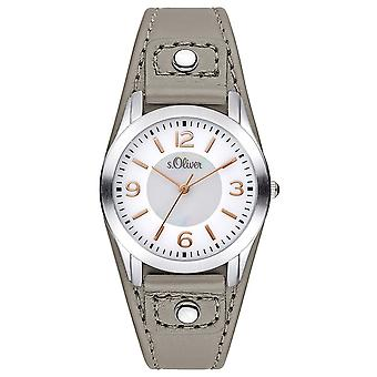s.Oliver women's watch wristwatch leather SO-3241-LQ