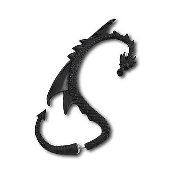 Alchemy Gothic Black Dragon Double Sided Ear Wrap Earring